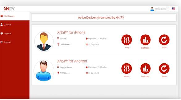 XnSpy App Dashboard